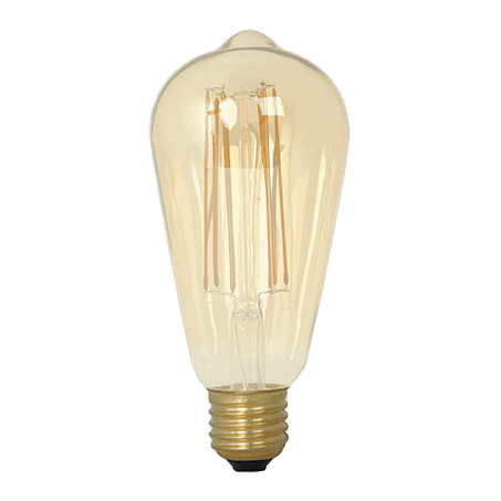 Rustic Amber Finish E27 Dimmable Lamp