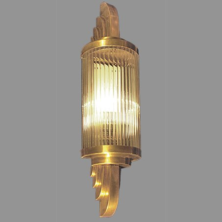 Art Deco Ribbed Wall Light Gold