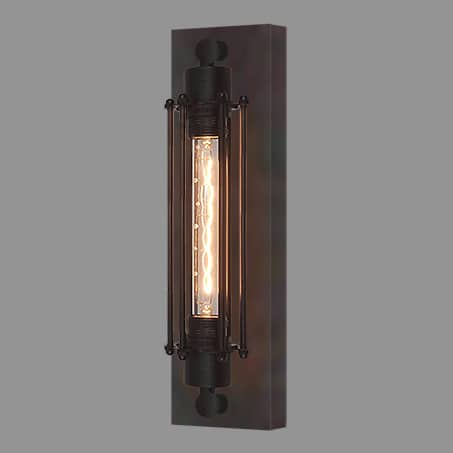 Single Industrial Wall Light with Long LED Filament lamp