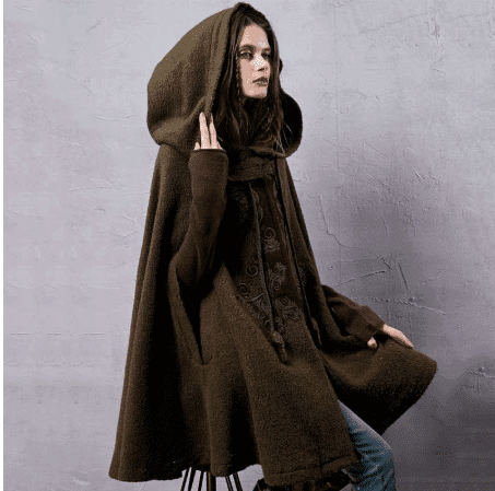 women winter cloak