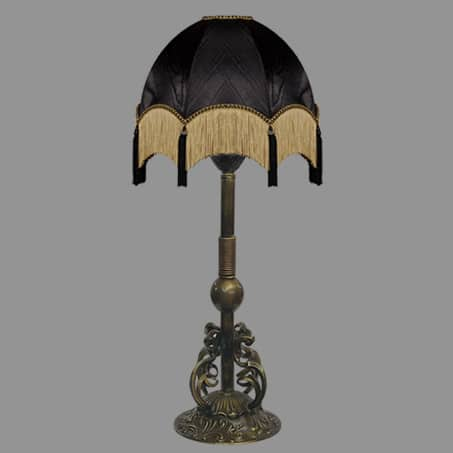 Column Antique Light with Black Tassel shades