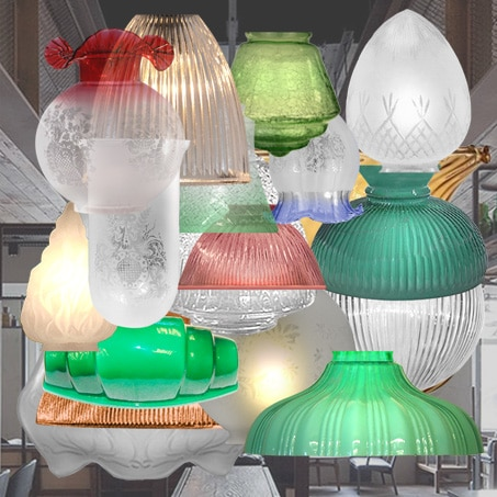 Glass Lighting Shades Assorted Finishes