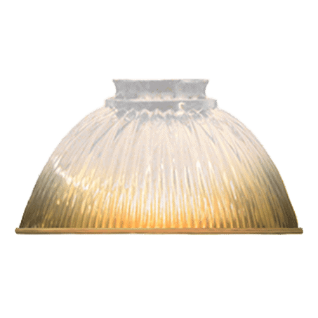Small Holophane Dome Shade Amber 60mm Gallery Neck