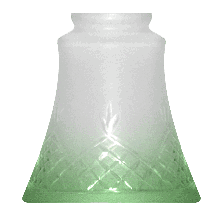 Green Tip Lighting Glass Shade