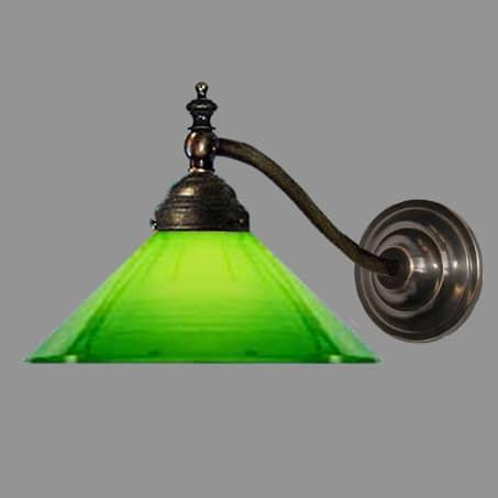wall light green glass
