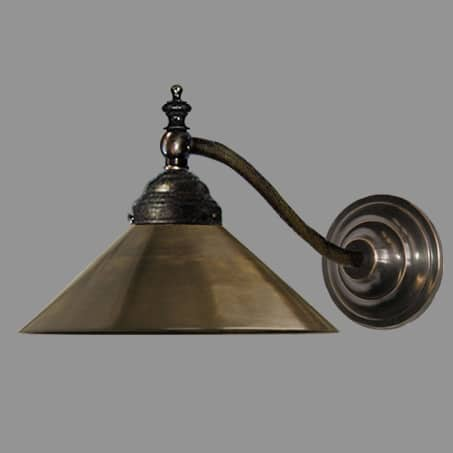 wall light antique metal cone shade