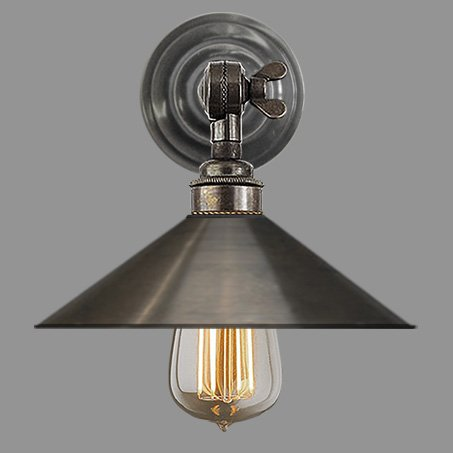 Industrial Wall Light Antique Round stepped Wall Plate with swivel