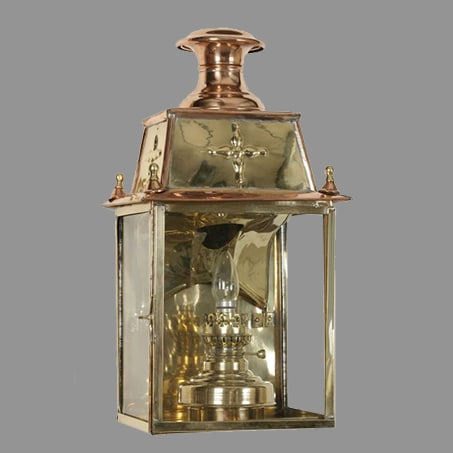Victorian Wall Light Lantern Solid Brass Copper