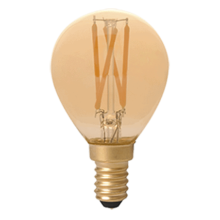 Spherical LED lamp E14 cap Gold Finish