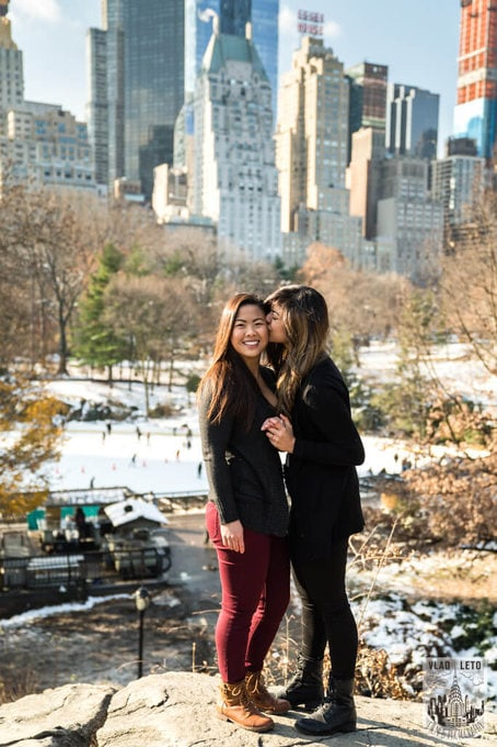 Photo 29 Same Sex proposal by Brooklyn Bridge + Engagement in Central Park | VladLeto