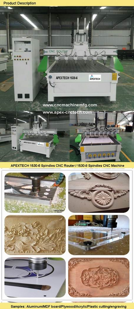 3D Woodwork Furniture Cabinetry CNC Carving Router Machine 15306 spindles configuration details