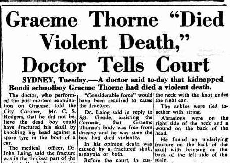 Graeme Thorne news headline