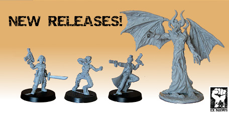 Exciting new gaming miniatures available from Ex Manus