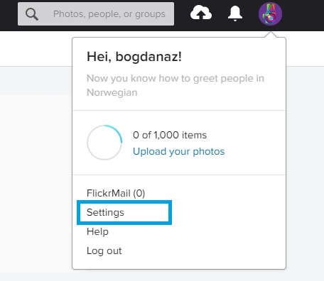 How to change your password on Flickr 3