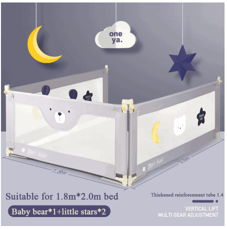 Star bear cute bed fence Baby