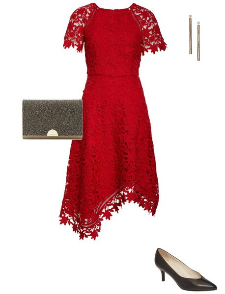 What to wear for Valentine's day - an asymmetrical dress for your date night | 40plusstyle.com