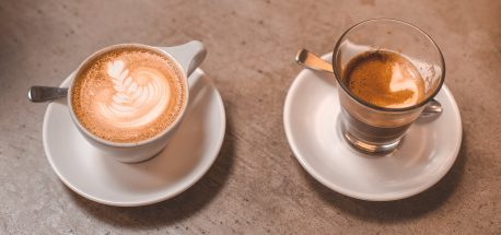 A latte and long macchiato from No 19 - best coffee Melbourne Northside