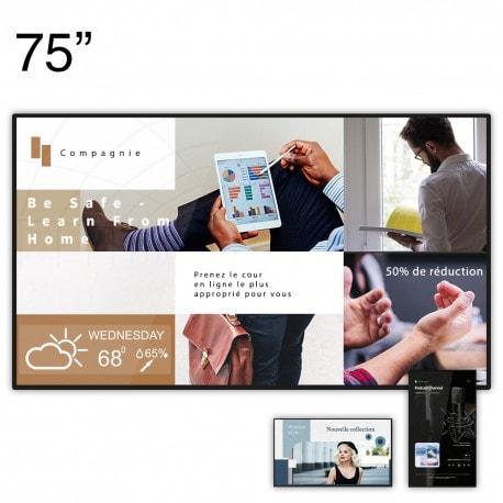 écran d'affichage 75'' Clevertouch