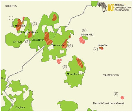 Cross River Gorilla Distribution Map