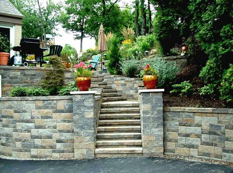 masonry contractors - retaining wall design