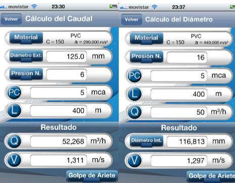 calculo del caudal y diametro con hydra calculus