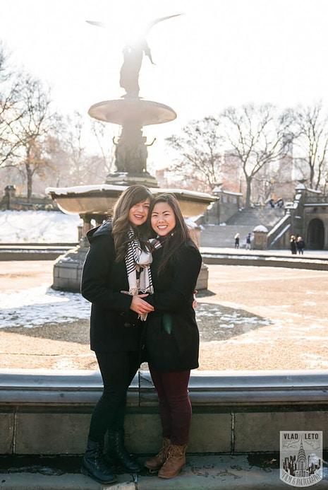 Photo 35 Same Sex proposal by Brooklyn Bridge + Engagement in Central Park | VladLeto