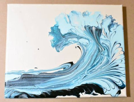 Chain Pull Wave, an example of choosing paint colors for acrylic pouring