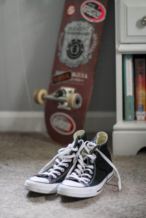 black Converse hi tops from eBay