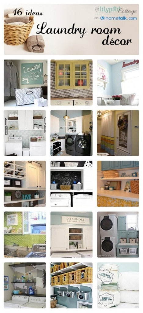 Affordable Fun Laundry Room Roundup on Hometalk - www.thelilypadcottage.com