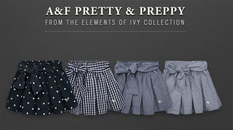 Abercrombie Fitch Prettiest Skirts