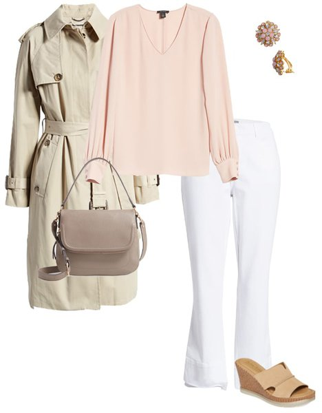 an outfit featuring pale colors | 40plusstyle.com