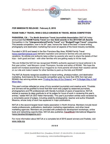 0216 NATJA ROAM press release