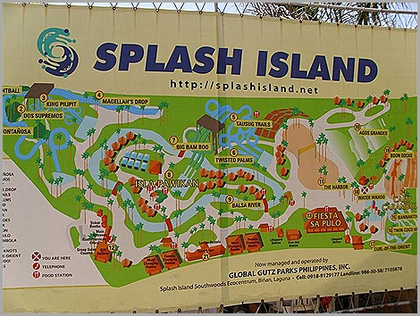 Splash Island Map