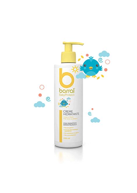 Barral Babyprotect Creme Hidratante 400ml - Rosto e Corpo