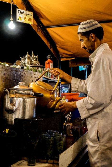 Djemaa el-Fna Mint Tea Marrakesh Morocco