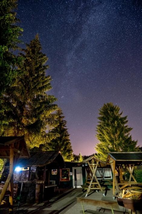 die Milchstraße über der Grillstube in Meyersgrund