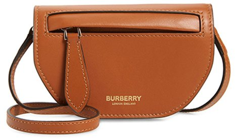 Burberry Olympia leather card case with detachable strap | 40plusstyle.com