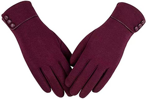 Alepo winter gloves with sensitive touchscreen finger | 40plusstyle.com