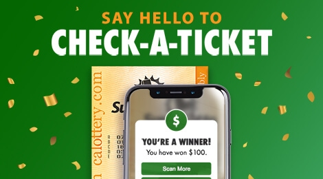 CA Lottery mobile app Check-A-Ticket feature