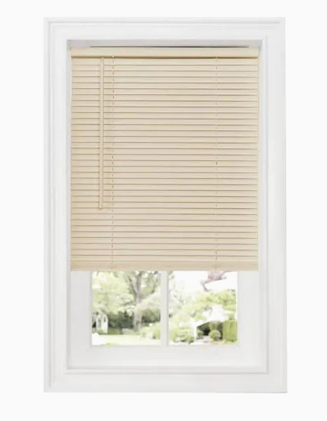 Alabaster Mini Blinds-Cordless-Vinyl-Off White