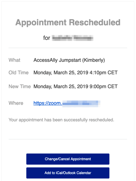 Appointment Scheduling Follow-Up Example