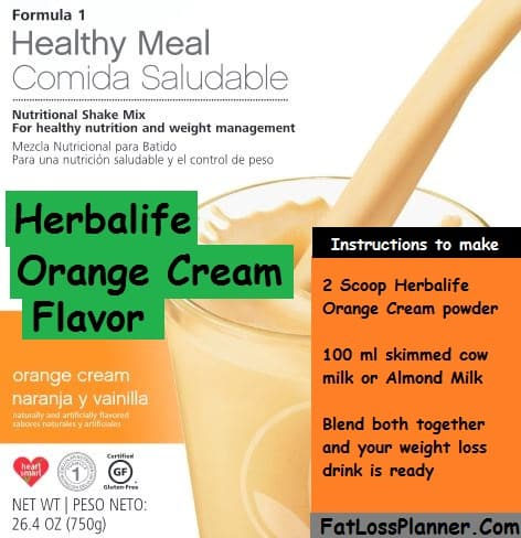 Orange Cream - Herbalife Flavor