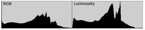 istogramma luminanza