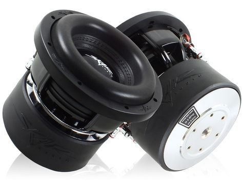 front back view Skar Audio ZVX-8 8 Subwoofer