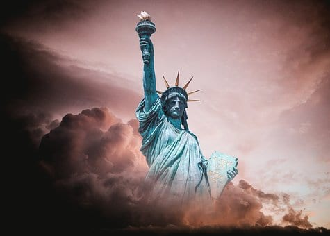 Statue of Liberty in dust