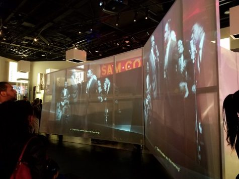 Projectors and digital screens filled many spaces, ensuring that the room was always in motion.
