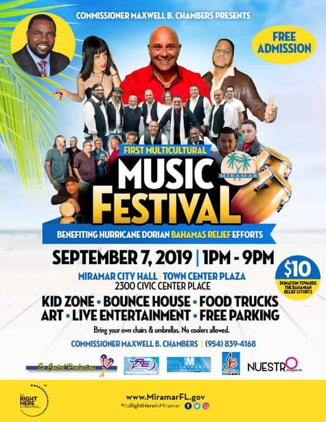 Multi-Cultural Festival in City of Miramar to benefit Bahamas Relief
