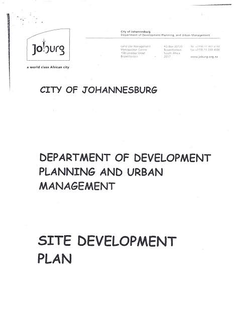 Site Development Plans SDP City of Johannesburg