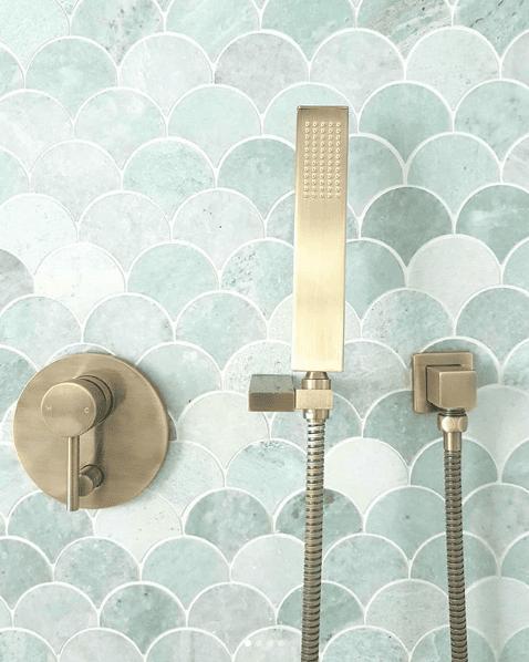 Elysian Shower Diverter-Brushed Brass