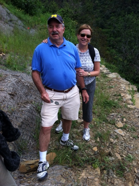Richard Eisenberg, '66, and his wife, Patricia, hiked the trails above Cinque Terre along the Ligurian coast of Italy.